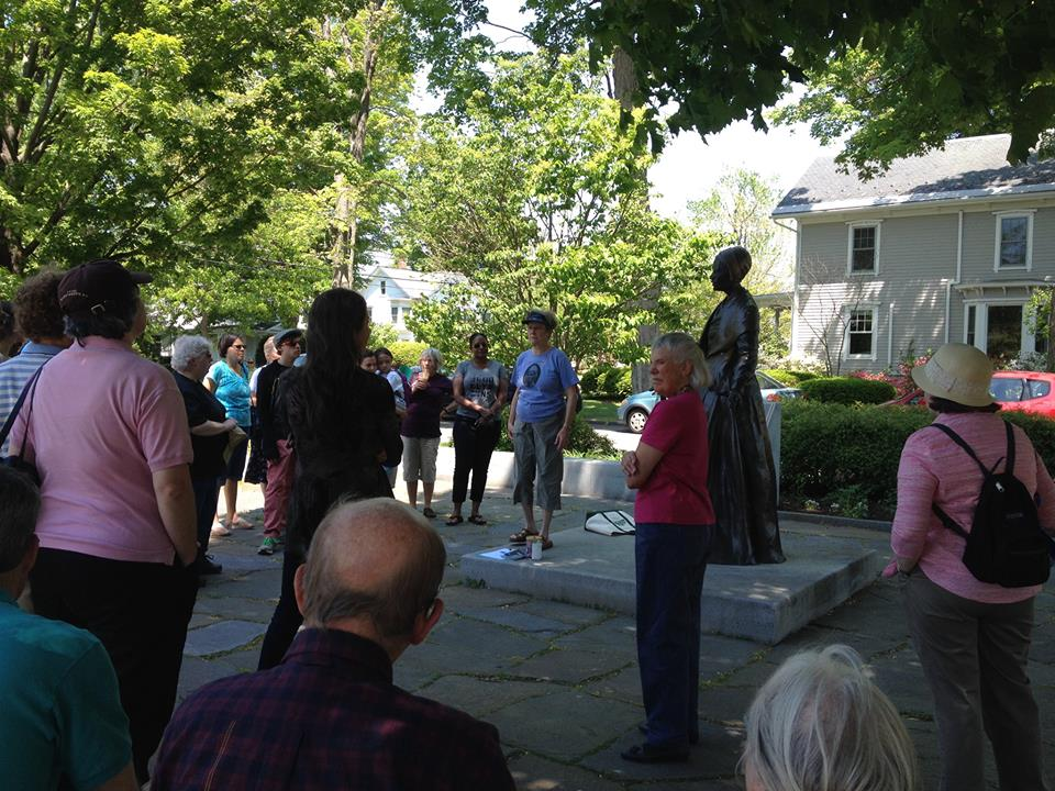 Before the celebration, a group enjoyed a tour of the African American Heritage Trail.